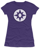 Juniors: Green Lantern - Star Sapphire Logo T-Shirt