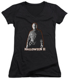 Juniors: Halloween II - Michael Myers V-Neck Shirt