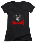 Juniors: King Kong - Kong Face V-Neck Shirt