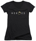 Juniors: Heroes - Logo V-Neck T-shirts