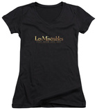 Juniors: Les Miserables - Logo V-Neck T-Shirt