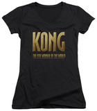 Juniors: King Kong - Logo V-Neck T-Shirt