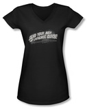 Juniors: Invasion of the Body Snatchers - Men Of Science V-Neck T-shirts