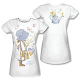 Juniors: Holly Hobbie - Butterfly Girl (Front/Back Print) Vêtements