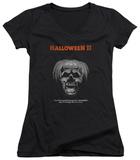 Juniors: Halloween II - Pumpkin Poster V-Neck Bluser