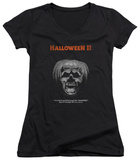 Juniors: Halloween II - Pumpkin Poster V-Neck Shirts