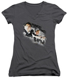 Juniors: Hot Fuzz - Punch That V-Neck Womens V-Necks