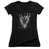 Juniors: Lord Of The Rings - Big Sauron Head V-Neck Shirt