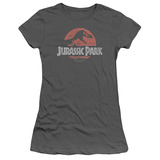 Juniors: Jurassic Park - Faded Logo Shirt