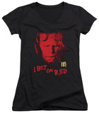 Juniors: Hellboy II - I Bet On Red V-Neck T-Shirt