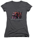 Juniors: Injustice: Gods Among Us - Bad Girls V-Neck T-Shirt