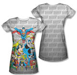 Juniors: Justice League - Justice League Assemble (Front/Back Print) T-Shirt