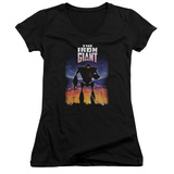 Juniors: Iron Giant - Poster V-Neck Shirts