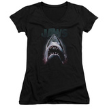 Juniors: Jaws - Terror In The Deep V-Neck Shirt