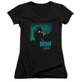 Juniors: Iron Giant - Look To The Stars V-Neck Shirts