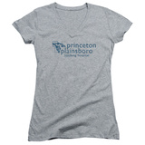 Juniors: House - Princeton Plainsboro V-Neck T-Shirt