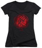 Juniors: Hellboy II - BPRD Logo V-Neck T-Shirt