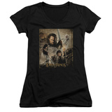 Juniors: Lord Of The Rings - Return of the King Poster V-Neck T-Shirt
