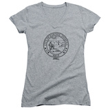 Juniors: Parks & Recreation - Pawnee Seal V-Neck Shirts