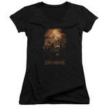 Juniors: Lord Of The Rings - Riders Of Rohan V-Neck Womens V-Necks