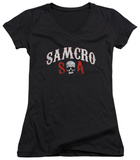 Juniors: Sons Of Anarchy - Samcro Forever V-Neck T-Shirt