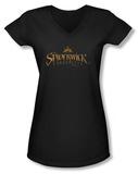 Juniors: Spiderwick Chronicles - Logo V-Neck T-shirts