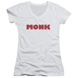 Juniors: Monk - Logo V-Neck Womens V-Necks