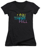 Juniors: One Tree Hill - Color Blend Logo V-Neck Shirts