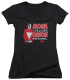 Juniors: Mork & Mindy - Mork Calling Orson V-Neck T-Shirt