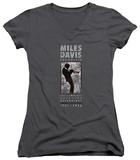 Juniors: Miles Davis - Miles Silhouette V-Neck T-shirts