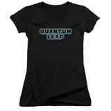 Juniors: Quantum Leap - Logo V-Neck Shirts