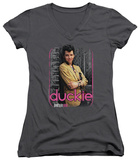 Juniors: Pretty In Pink - Just Duckie V-Neck T-shirts
