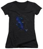 Juniors: Star Trek - Kirk Constellations V-Neck Shirts
