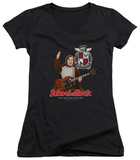Juniors: School Of Rock - The Teacher Is In V-Neck T-shirts