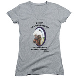 Juniors: Parks & Recreation - Li'l Sebastian V-Neck T-shirts