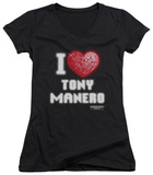 Juniors: Saturday Night Fever - I Heart Tony V-Neck T-Shirt