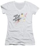 Juniors: Samurai Jack - Who Wants Some V-Neck T-Shirt