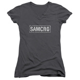 Juniors: Sons Of Anarchy - Samcro V-Neck Shirt