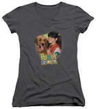 Juniors: Punky Brewster - Punky & Brandon V-Neck T-shirts