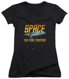 Juniors: Star Trek - Space V-Neck T-Shirt