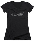 Juniors: Army - Helicopter V-Neck Womens V-Necks