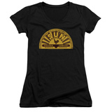 Juniors: Sun Records - Traditional Logo V-Neck T-shirts