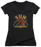 Juniors: Sun Records - Rocking Rooster V-Neck T-shirts