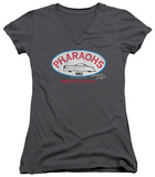 Juniors: American Graffiti - Pharaohs V-Neck T-Shirt