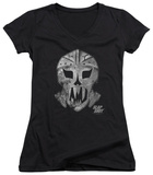 Juniors: Slap Shot - Goalie Mask V-Neck Womens V-Necks