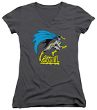 Juniors: Batman - Batgirl Is Hot V-Neck Shirts