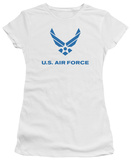 Juniors: Air Force - Distressed Logo T-shirts