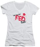 Juniors: Shaun Of The Dead - Red On You V-Neck Womens V-Necks