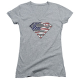 Juniors: Superman - All V-Neck Womens V-Necks