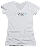 Juniors: 4400 - The 4400 Logo V-Neck T-Shirt